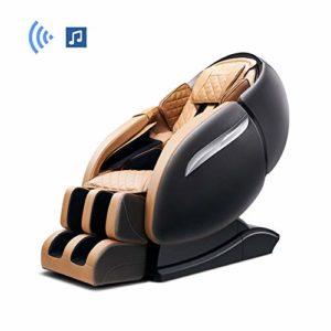 WSN Fauteuil de Massage Intelligent électrique, Fauteuil de Massage Complet sans gravité avec tapotements Extensibles pour Le Chauffage du Dos et des Pieds,Noir