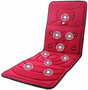 XLYAN Matelas De Massage Complet du Corps Pliable 8 en 1 Mode Chauffage Automatique Coussin De Masseur De Vibration Infrarouge Lointain Multifonction,Red
