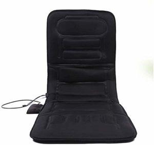 XLYAN Matelas De Massage Complet du Corps, Tapis De Massage Pliable pour Chaise, Massage Humain Mimique Une Variété De Méthodes De Massage, pour Le Bureau À Domicile Et La Voiture,Black