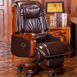 ZSAIMD Chaise de Bureau exécutif – Dossier Haut Rocking PU Chaise de Bureau inclinable en Cuir Fauteuil de Massage Informatique en Cuir Chaise pivotante Chaise Chaise Patron exécutif