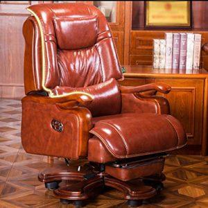 ZSAIMD Chaise de Bureau exécutif – Dossier Haut Rocking PU Chaise de Bureau inclinable en Cuir Fauteuil de Massage Informatique en Cuir Chaise pivotante Chaise Chaise Patron exécutif (Color : Rouge)
