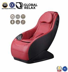 Fauteuil de massage et relaxation GURU (rouge), 3 modes de massage, son surround 3D, conçu pour le confort et le repos – Garantie Officiel 2 ANS de Global Relax France
