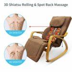 Fauteuil de massage Furgle avec compression d'air Massage Shiatsu 3D, 8 modes de massage (Grand, Marron Clair)