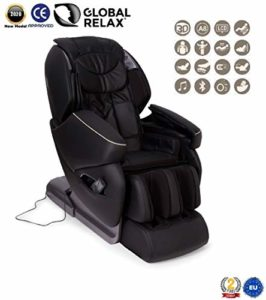 Global Relax France – NIRVANA Fauteuil de Massage (nouveau modèle 2018) – Noir – 2 ANS Garantie Officiel Global Relax
