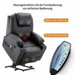 MCombo Fauteuil de relaxation électrique réglable USB (Noir)
