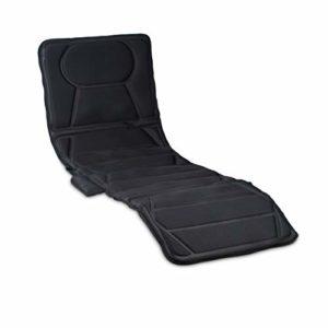 Relaxdays Matelas de massage électrique massage nuque dos fesses jambes avec fonction chaleur 10 moteurs plusieurs puissances vibration massage 5 programmes télécommande, noir