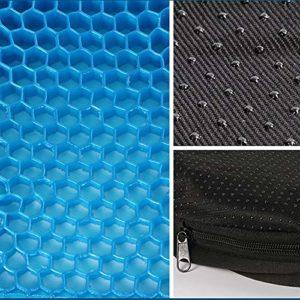 XiaoOu Siège Flexible 3D Ice Gel Coussin de siège de Coussin de Refroidissement avec siège de Massage Confortable antidérapant Noir Chaise de Bureau pour Les Soins de santé, 38x33x3CM