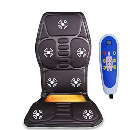 Bixialan Tapis de Massage Car Massager Automobile cervicaux Vertebra Taille Coussin Coussin Chair Full Body Massage Matelas Chauffant Tapis Rangement Facile Coussin de Massage Matelas de Massage