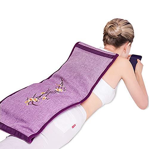Bixialan Tapis de Massage Chauffage électrique Sel Sac Gros sel Chaud Compress Wormwood sel de mer Hot Pack Compress Sac de physiothérapie Coussin de Massage Matelas de Massage
