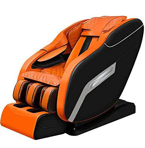 CSPFAIZA 8D Fauteuil de Massage Intelligent, Son Surround 3D, Gravité Zéro, Pétrissage de Tout Le Corps, Massage par Vibration, Massage Airbag - Orange