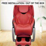 Fauteuil De Massage à Inclinaison Gravité zéro/full emballage de coussin gonflable de corps/balayage de la forme du corps personnel/fonctionnement LED/installation gratuite,Rouge