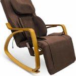 Fauteuil de massage Furgle avec compression d'air Massage Shiatsu 3D, 8 modes de massage (Élargi, Marron foncé)