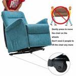 FMXYMC Fauteuil inclinable à Levage électrique pour Personnes âgées, Fauteuil de Massage Chauffant avec Roues, canapé à élévation électrique Simple pour Salon,Bleu