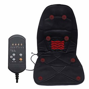 LXVY Back Massager – Siège Massant et Chauffant pour Dos et Nuque | Masage par Vibration – 8 Modes de Massage, pour Bureau Domicile Voiture