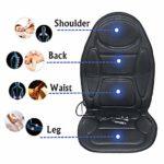 LXVY Shiatsu Massage du Dos avec Chaleur -Deep Tissu Pétrissage Fauteuil de Massage Pad, Massage du Dos pour Full Back Pain Relief