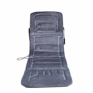 Miwaimao Matelas chauffant pour massage corporel – Multifonctionnel vibrant de la taille et du dos télécommande 10 matelas de massage électrique, beige, gris