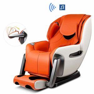 WSN Fauteuil de Massage inclinable, Fauteuil de Massage électrique shiatsu Corps Entier Zero Gravity SL-Track 4 Modes de Massage avec Chauffage par étirement,C