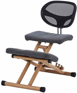 YAMMY Fauteuil de massage ergonomique ergonomique avec soutien dorsal professionnel orthopédique genouillère, cou et douleur de la colonne vertébrale