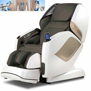 ZHANGLE Fauteuil de Massage de avec Musique Bluetooth Massage Complet du Corps 8 Modes de Massage automatiques + 16 Modes optionnels Fauteuil de Massage 4D zéro gravité,Gris
