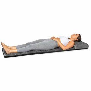 ADHW Relaxation Musculaire Matelas Massant Chauffant avec 5 Moteurs Vibrants – 3 Coussins Chauffants de Thérapie, Massage pour Tout Le Corp Relaxation des Maux Musculaires Fatigue Soulager