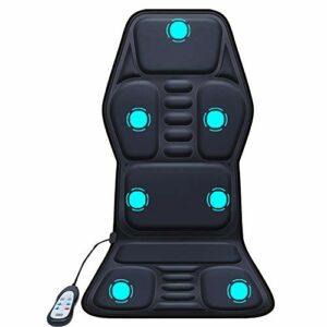 LFJG Housse De Siège De Massage Chauffante pour Voiture Neuf Modes De Massage Chauffe-Siège Chauffant pour Siège De Voiture À Chauffage Rapide avec Régulateur De Température À 3 Directions
