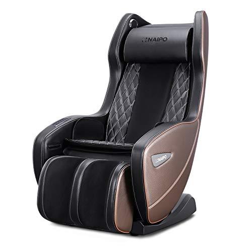 Naipo fauteuil de massage électrique siège masseur shiatsu chauffant avec bluetooth, taper, pétrir, système de massage à air, design ergonomique, confortable portable chaise longue pour la relaxation