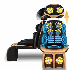 QGUO Massage du Dos Siège de Massage Coussin Massant pour Entier Dos et Cou avec 60 Nœuds de Vibration 6 Modes de Massage, dans Maison Bureau