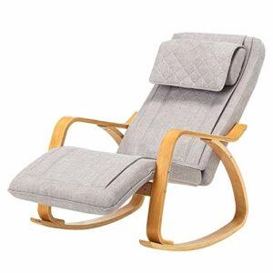 SPFOZ Décoration d'intérieur Fauteuil de Massage Moderne 3D Fauteuil à Bascule Rocking Fonction Vibration de 8 Modes de Massage Chaise Longue à Bascule Chaise Longue de Chaise à l'aînée