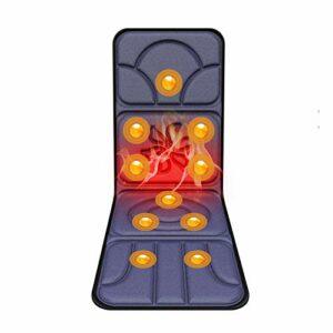 WSN Coussin de Massage corporel Chauffant Intelligent, Matelas de Massage électrique à Chauffage Rapide pour Tout Le Corps pour soulager Les douleurs lombaires dans Les Jambes,B,JP