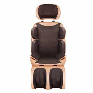 WSN Coussin de Massage Shiatsu 2-en-1 et Masseur corporel, Coussin de siège de Massage par Vibration 3 Niveaux de réglage de la Hauteur faciles à Nettoyer pour soulager la Fatigue générale,110v