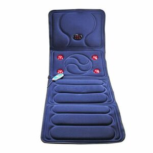 YWYW Tapis de Massage Multifonction Chauffant Matelas de Massage Choc électrique Couverture de Massage du Corps Entier équipement de Massage de santé des Personnes âgées Coussins de Massage pliab