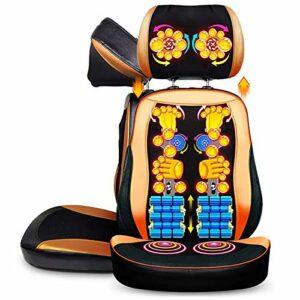 ZZYYZZ Masseur de Dos Shiatsu, Coussin de Chaise de Massage pétrissage Profond pour Le Coussin de siège de Massage de Masseur de soulagement de Douleur de Dos Complet