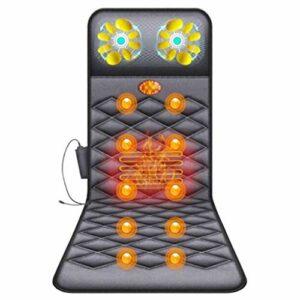 BJYX Matelas De Massage Complet du Corps, Massage Shiatsu Multifonction avec Tapis De Massage Électrique Tapis Chauffant pour Apaiser Le Corps, Complètement Mal De Dos
