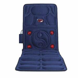 Coussin De Massage Matelas Massant Chauffant Avec 4 Sections De Zone De Massage Et Fonction Fermeture De Synchronisation Pour Soulager Douleur Retour