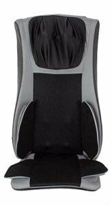 POWRX Siège de Massage Shiatsu d'acupression – Standard ou modèle de Luxe – (Noir/Gris Clair Deluxe)