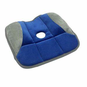 RETYLY SièGe de Massage en Forme de Fesses Correction de la Posture Pelvienne Coussin de PousséE de la Hanche de Beauté – Bleu