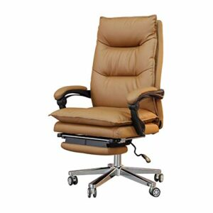 SMLZV Chaises de bureau Home Bureau Chaises de bureau Cuir Executive Chaise Lunch pause Chaise de bureau inclinable Siège de massage Chaise pivotante Plat repose repose douce et confortable 360 ​​degr
