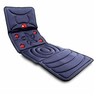 SXFYMWY Fauteuil Massant Shiatsu Coussin De Massage – pour Entier Dos Et Cou avec 9 Nœuds De Vibration Plusieurs Modes De Massage dans Maison Bureau Voiture