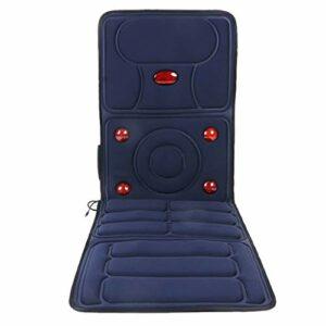 Tapis De Massage Électrique pour Massage Complet du Corps,Siège De Massage,Tapis De Massage pour Bureau Maison (avec Massage du Cou),système De Protection Contre La Surchauffe