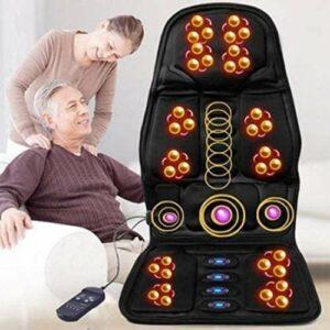 XLYAN Masseur De Dos Shiatsu avec Chaleur – Coussin De Chaise De Massage Pétrissage Profond Coussin De Siège De Massage Masseur De Dos Complet pour Une Utilisation À Domicile,Black