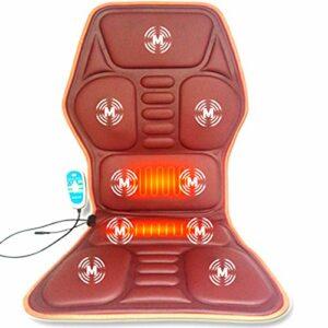YARDBEAR 2021 Siège massant Chauffant,9 Nœuds Massage Vibration Et 2 Plaquettes Chauffage,Tampon Chaise Massage pour Grand Camion 24V-12V Utilisez Une Chaise Masseur Voiture,Marron,12V