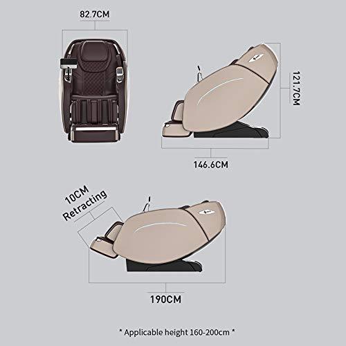 2021 Fauteuil de Massage SUFUL M8,Fauteuil de Massage Complet du Corps Zéro Gravité,Piste Super Long SL,Système de Massage à Air,Relaxation Du Corps,Soulagement de La Fatigue,(Champagne Gold)