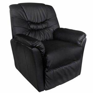 binzhoueushopping Fauteuil électrique massant en cuir artificiel noir design ergonomique, moderne, confortable et solide fauteuil massage