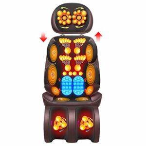 Coussin de chaise de massage de vibration de corps entier – masseur de dos de cou de Shiatsu avec le coussin de siège de massage de roulement de pétrissage de chaleur pour les hanches de taille
