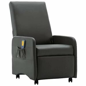 Fauteuil de Massage Relaxation électrique Chauffant inclinable avec Repose-Pied Ajustable pour Salon Salle de Séjour Maison Similicuir (EU Stock)