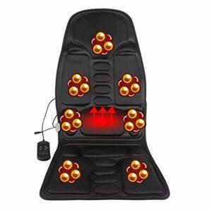 HYXQYYMY Matelas Massage Vibrations,Matelas Massant Chauffant Pliable,7 Moteurs De Vibration + Arrêt De Synchronisation,Double Usage Voiture Et Maison HHH+++