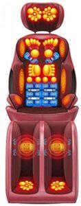 JYZT Siège De Massage Complet du Corps Shiatsu Chauffé, Fauteuils Et Sièges De Massage Électrique Cou Et des Épaules 16 Balles De Massage pour Soulager La Douleur
