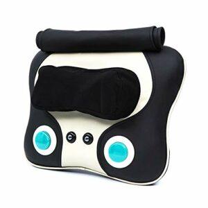 LEVORYEOU Coussin Massage,Coussin De Massage Corporel, Fauteuil Massant Shiatsu Coussin De Massage Dos avec Chaleur,pour Massage du Cou,Thérapie Magnétique,6 Têtes De Massage,Pétrissage