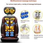 Lzour Back of Shiatsu Back and Walle Massager – Massage Chaise Pad Deep Paix Plein Back Back Massager Coussin de siège de Massage pour l'usage de Bureau à Domicile