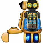 Lzour Chaise de Coussin de siège de Massage électrique au Cou et au Dos avec 16 nœuds de roulement de Chaleur Shiatsu pour Le pétrissage des Muscles de la Hanche Vibrations